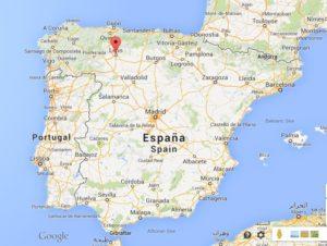Localisation de León en Espagne, au Nord-Ouest de Madrid.
