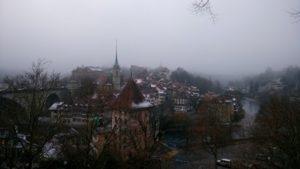 Vue sur Berne enneigée