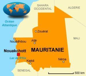 Emplacement de la Mauritanie