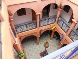Cour intérieure d'un riad de Marrakech.