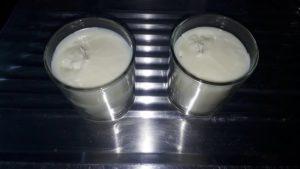 Bougies terminées: attention à la rétractation de la cire en refroidissant