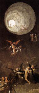 Ascension vers l'empyrée, tableau du peintre Jérôme Bosch avec la première représentation connue du fameux Tunnel décrit par les EMI.