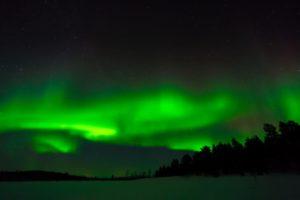 Aurore boréale à Kiruna (Suède)